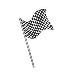 flag start sport victory finish symbol vector image