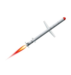 Flying cruise missile on a white background vector image