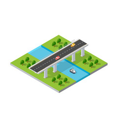 the bridge skyway vector image