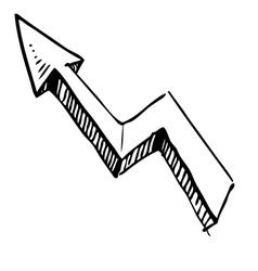 Crankle arrow vector image vector image