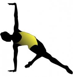 dance girl ballet silhouettes vector image vector image