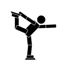 figure skating flat icon vector image