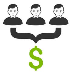 Sales funnel customers icon vector