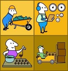 Set work profession people vector