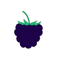 Sign flat blackberry 2608 vector image