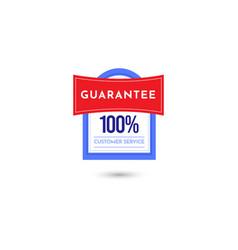 100 guarantee customer service badge logo vector