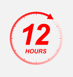 12 hour icon vector image