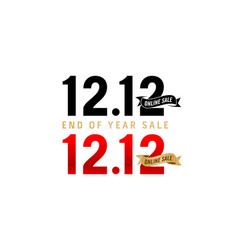 1212 sale 1212 online sale end year sale vector image