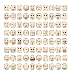 80 face emotions vector image