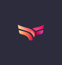abstract bird logo design eagle falcon hawk vector image