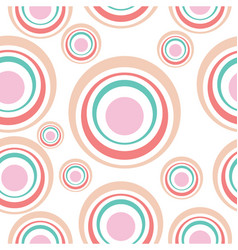 abstract circles seamless background vector image