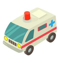 ambulance icon isometric style vector image