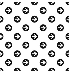 Arrow right circle button pattern simple style vector image