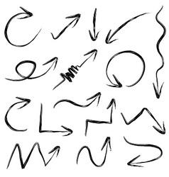 Arrows hand drawn vector