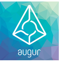 augur rep blockchain cripto currency logo vector image