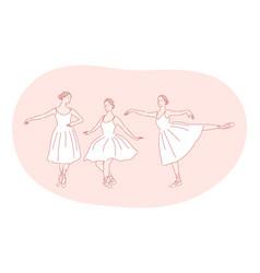ballerina ballet dance performance in theatre vector image