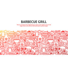 Barbecue grill concept vector