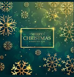 beautiful premium golden snowflakes background vector image
