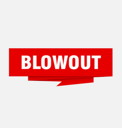 Blowout vector