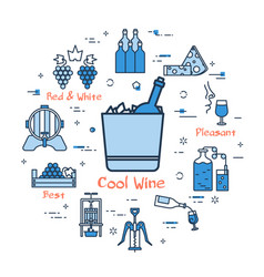blue round concept - cool wine vector image