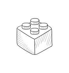 Building block sketch icon vector image