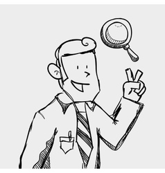 Businessman design sketch icon Isolated and flat vector image