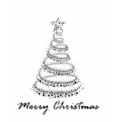 Card with chrismas tree vector