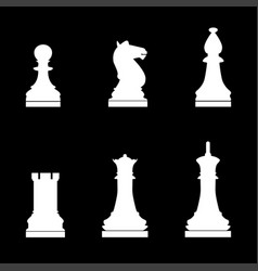 Chess pieces icon vector