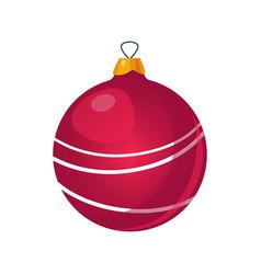 Christmas tree decorations bright vector