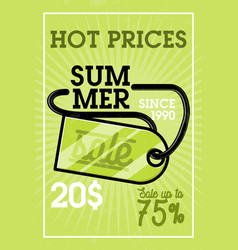 color vintage summer sale banner vector image