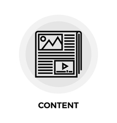 Content Line Icon vector image