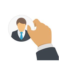customer retention concept vector image
