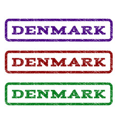 Denmark watermark stamp vector