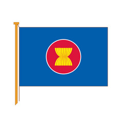 detailed reproduction of the official flag asean vector image