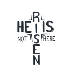 easter lettering - he is risen vector image