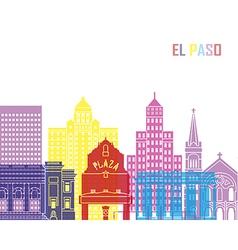 El Paso V2 skyline pop vector image