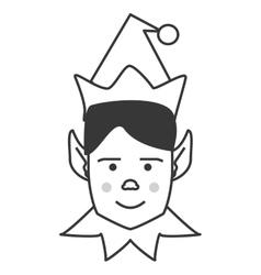 Elf merry chistmas design vector