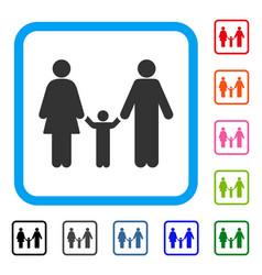 family child framed icon vector image