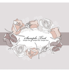 frame from roses vector image
