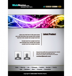 futuristic web site template vector image