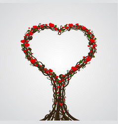 heart tree card art creative vector image