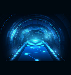 hi tech speed connection futuristic concept vector image