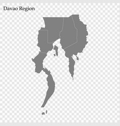 High quality map region philippines vector