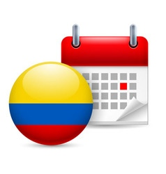 Icon of national day in colombia vector image
