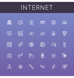 Internet Line Icons vector image