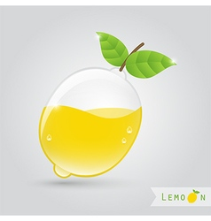 Lemon fruit juice vector