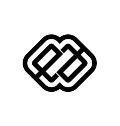 Letter ea modern logo vector