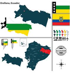 map of orellana ecuador vector image