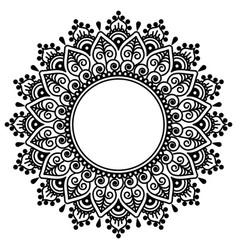 mehndi indian henna tatoo mandala design vector image