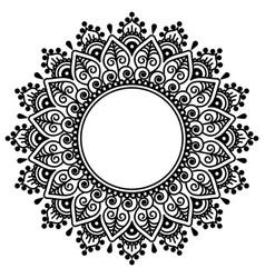 mehndi indian henna tattoo mandala design vector image